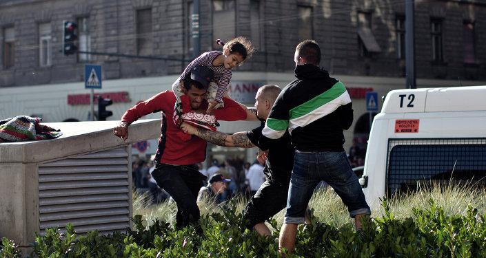 Syrische Flüchtlingen in Ungarn