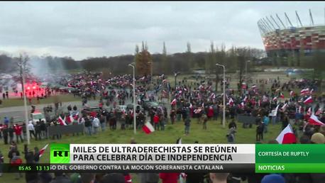 Polonia: Ultraderechistas se reúnen para protestar contra los extranjeros en el Día de Independencia