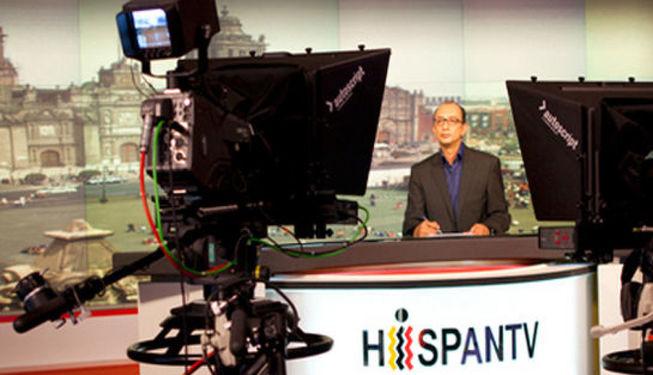Plató de TV de Hispan TV.