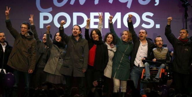 Dirigentes de Podemos en la campaña electoral. (Reuters)