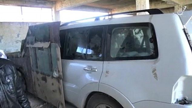 Le camion fortifiée qui sera utilisé pour mener à bien la mission contre les soldats Assad