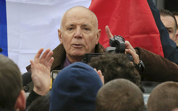 French General Christian Piquemal (ret) speaking at PEGIDA demonstration