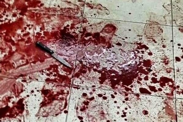 Scene of stabbing attack in Otniel. (Twitter)