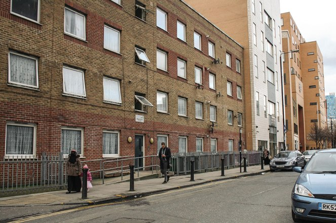 Calle cercana a la Mezquita de Whitechapel