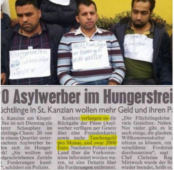 migrants en grève de la faim