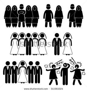 stock-photo-polygamy-marriage-multiple-wife-husband-stick-figure-pictogram-icons-311561024